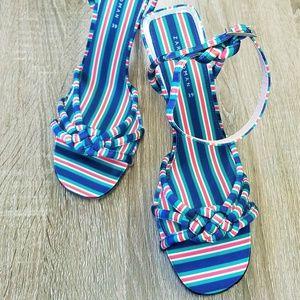 Zara Shoes - Zara Striped Heels
